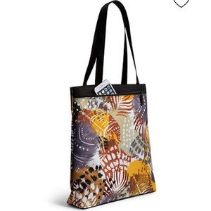 Vera Bradley Painted Feathers Lighten Up Tote Bag